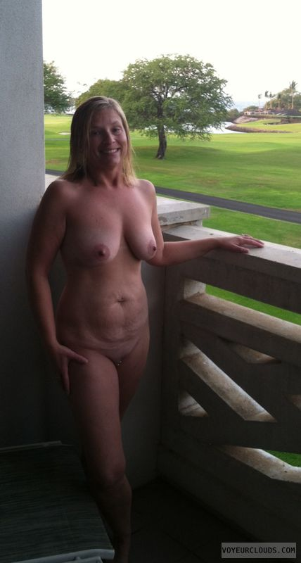 nude wife, wife pussy, wife tits, blonde milf, outdoors