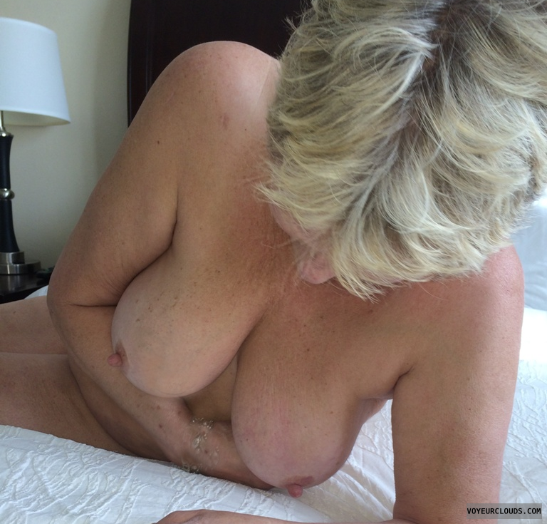 wife tits, blond, mature, mature wife
