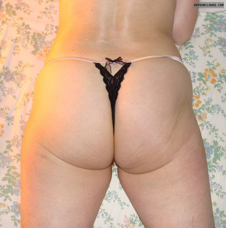 mature wife, thong, wife ass