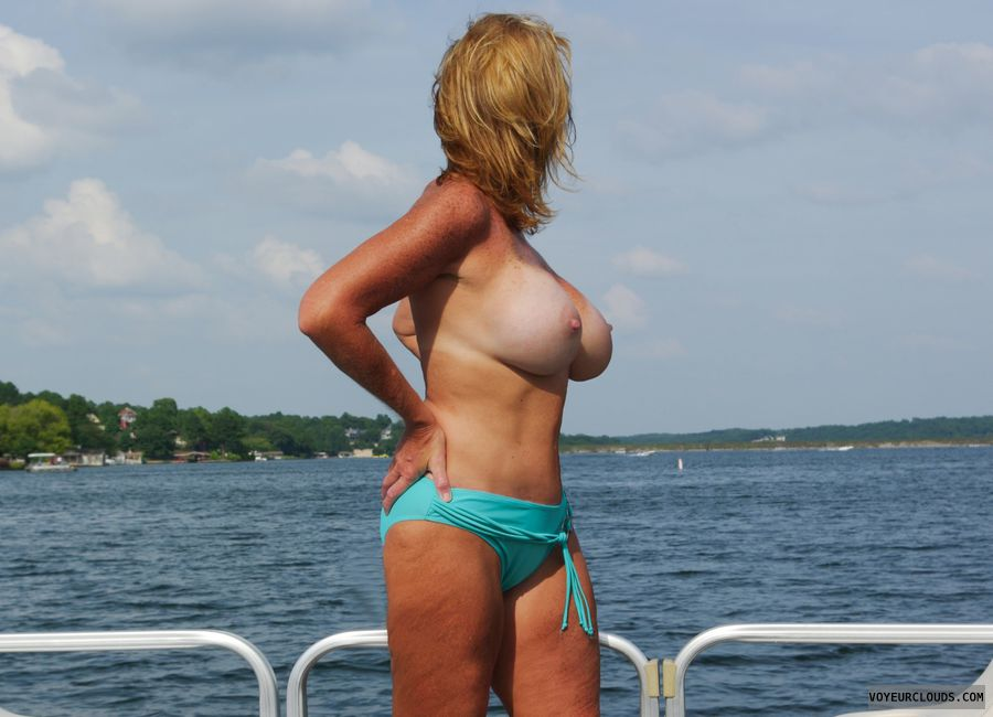Wife naked on the boat