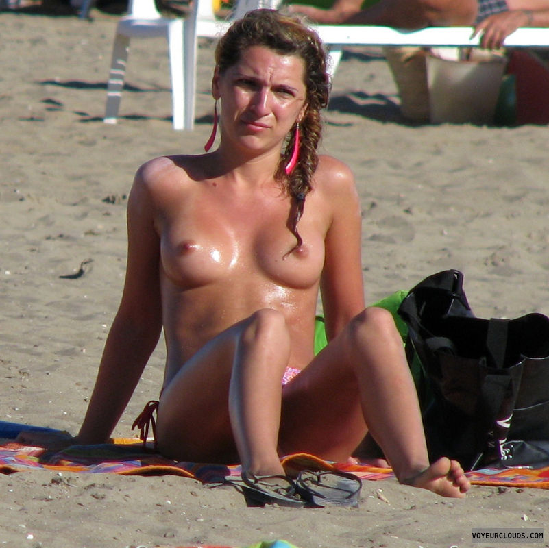 topless beach, beach voyeur, firm tits, cute, candid woman