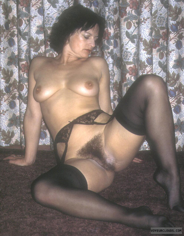 Nude wife hairy bush