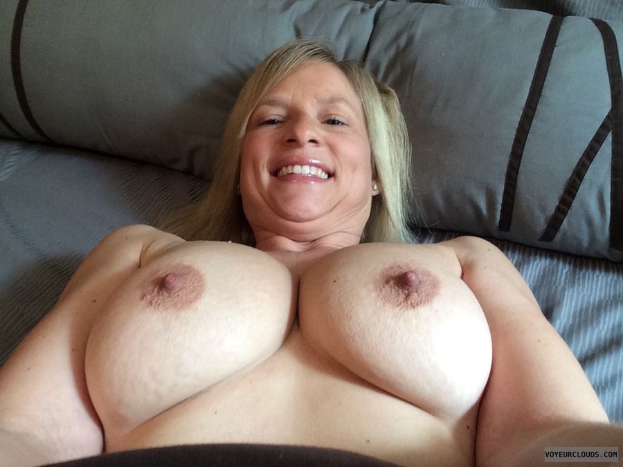 wife tits, topless wife, wife nipples, blonde milf