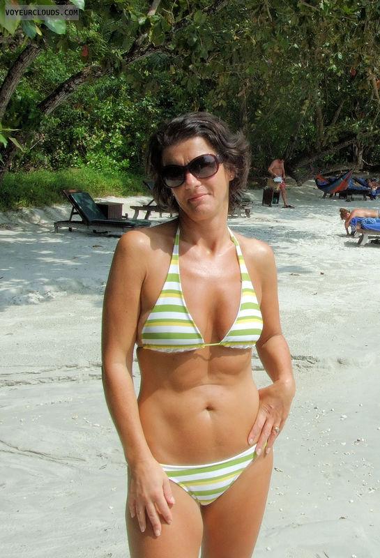 bikini, beach, hot, sexy, milf on a beach, milf in bikini
