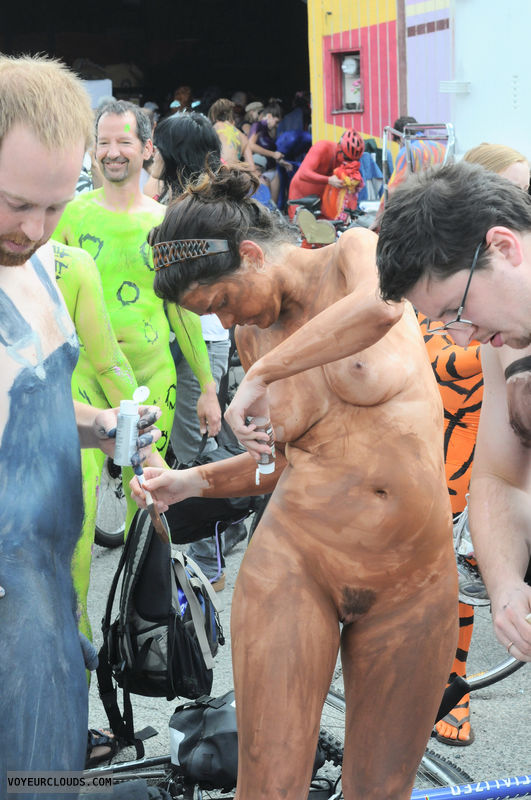 Opinion you Big cock public photo body paint