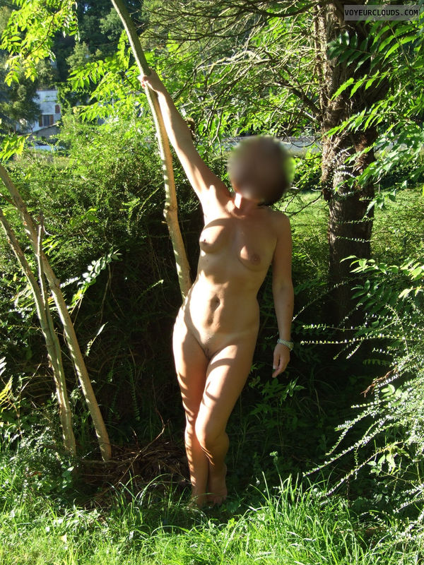 naked wife, nude wife, france, woods, outdoors
