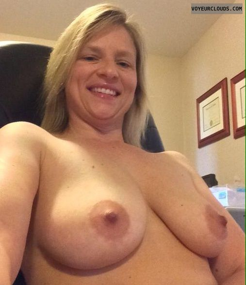 Wife boobs selfie