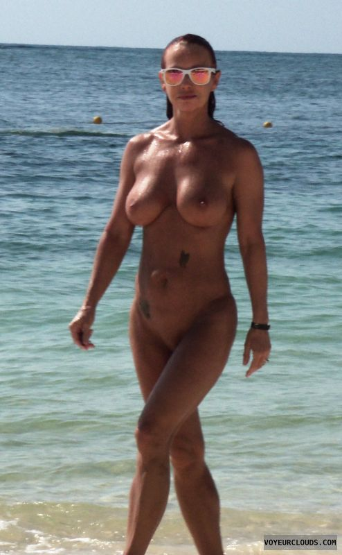 Milf wife nude beach