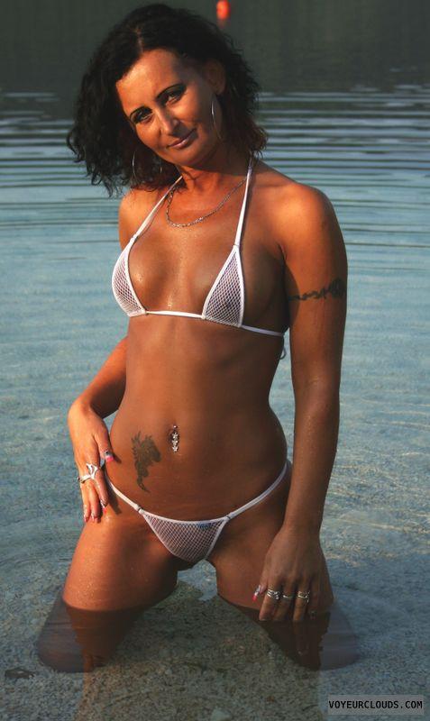 nude milf, vicki, vixen, bikini, black hair, sexy