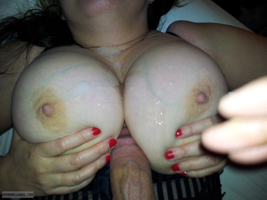Agree wife tits cum