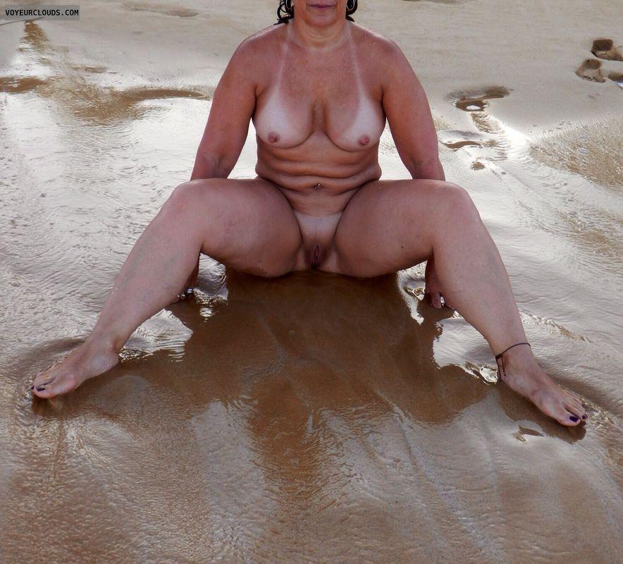nude wife, nude milf, topless milf, topless wife, beach tits