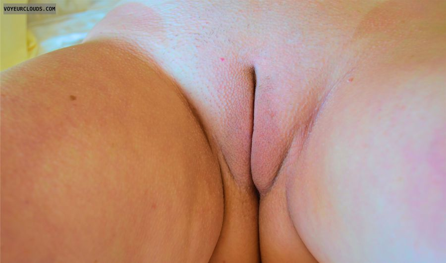 nude wife, wife pussy, shaved pussy, pussy lips, labia majora