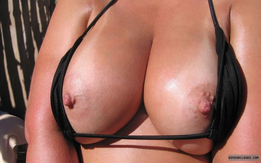 wife tits, sexy wife, wife nipples, big boobies, hot tanlines