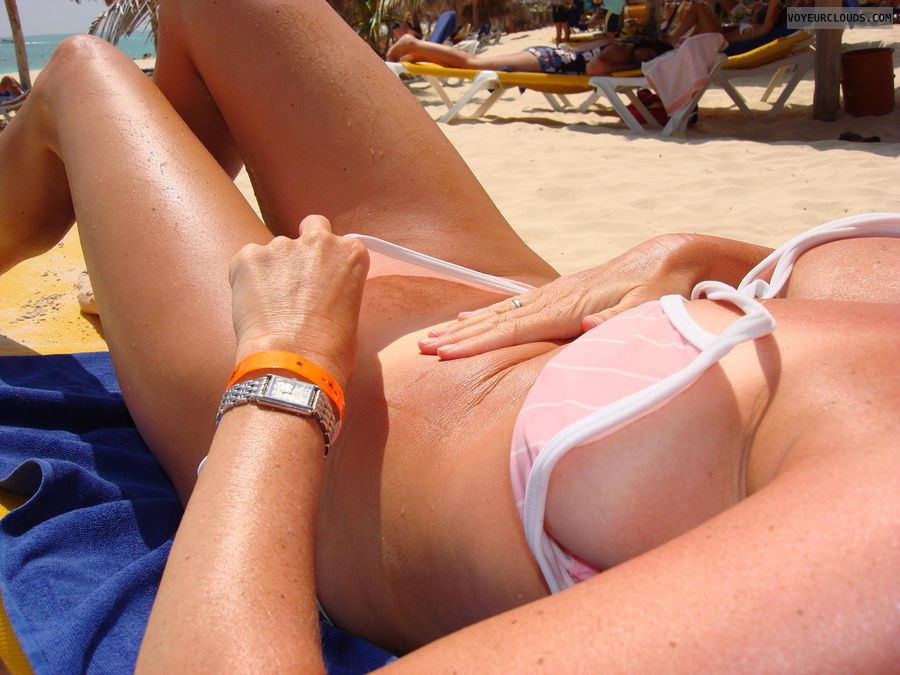 Bikini panties on hairy girls