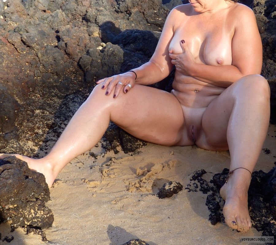 nude wife, nude milf, oil, smooth pussy, milf pussy