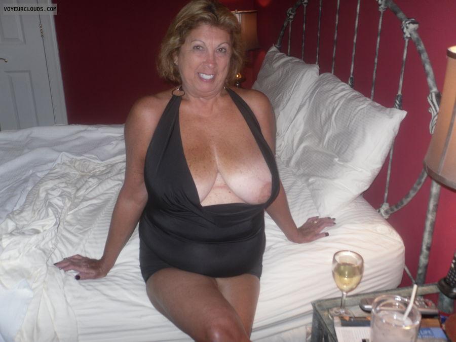Senior women big tits
