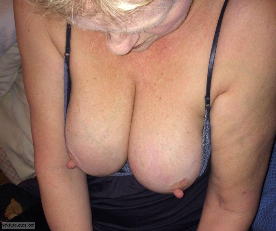 wife tits, sexy wife, wife nipples, big tits, hard nipples