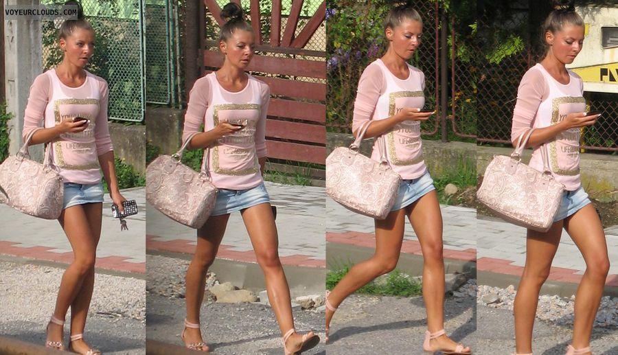 amateur, public, upskirt, public voyeur, legs, mini skirt