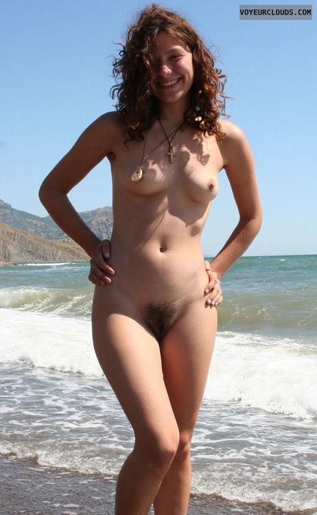 hairy pussy, small tits, hard nipples