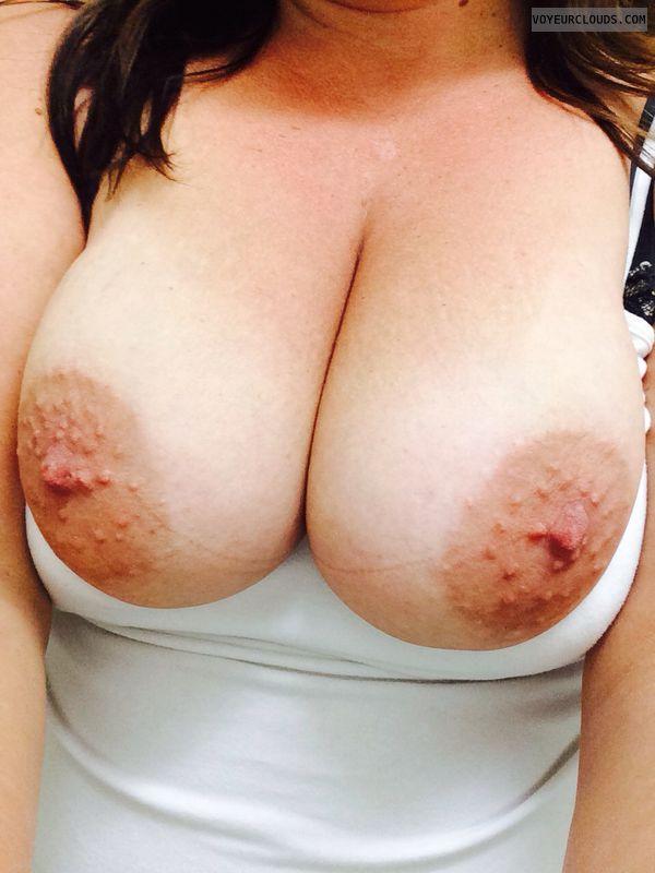 big hard selfie nipple tits