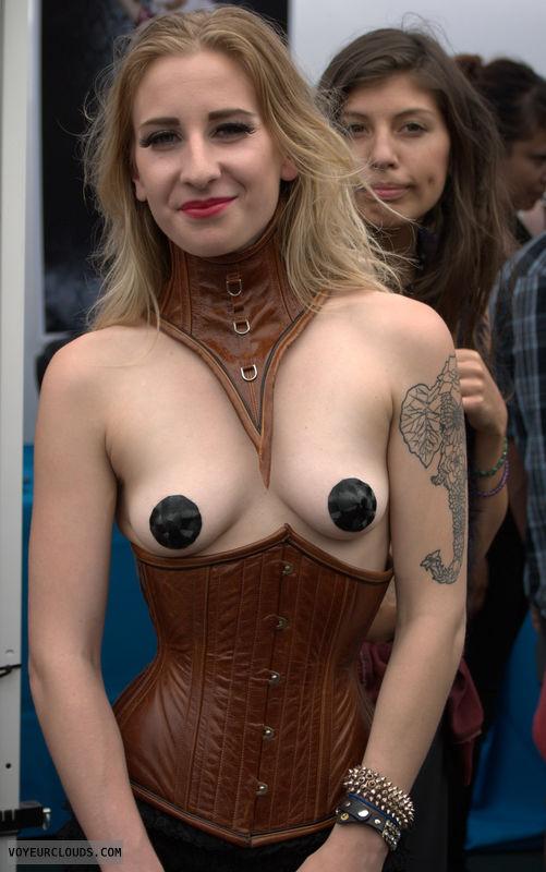 Folsom Street Fair, public, breasts, corset