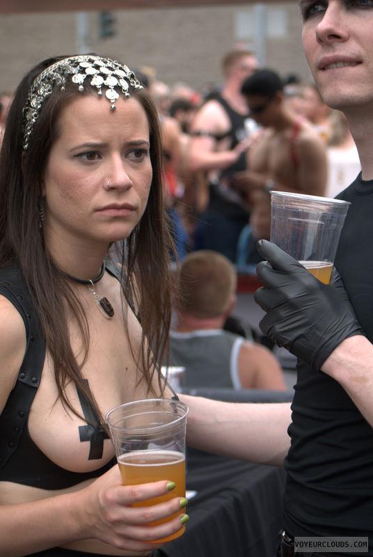 Folsom Street Fair, breasts, public