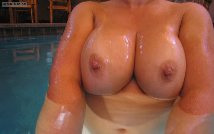 Pool Boobies, Cleavage, Boobies,  hard Nipples, wife tits