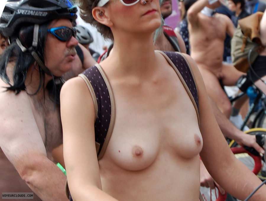 topless, cute tits, small tits, wnbr, topless in public