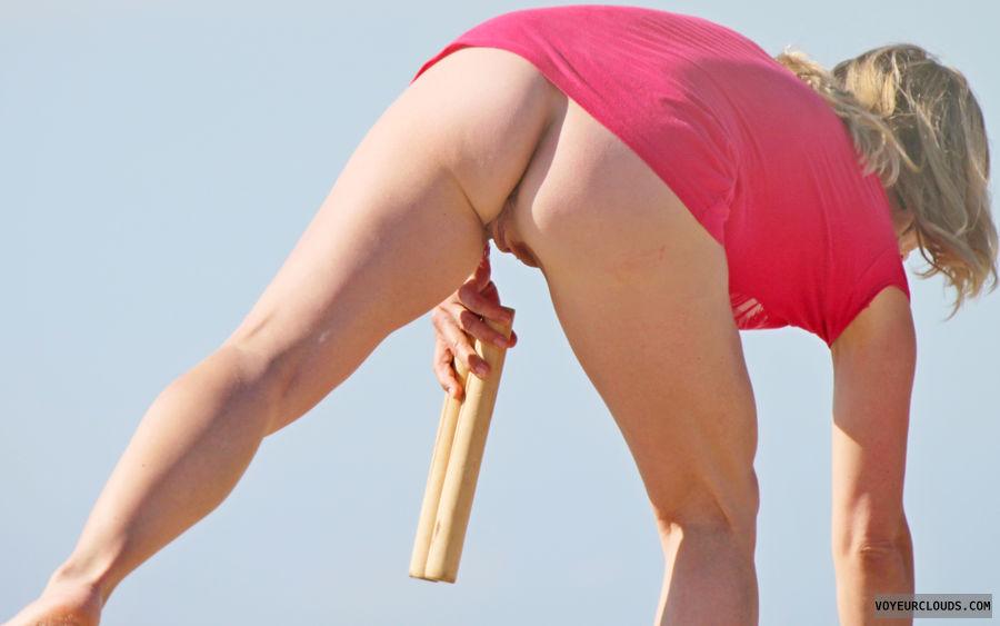 beach voyeur, beach, ass, nude, bottomless, beach ass