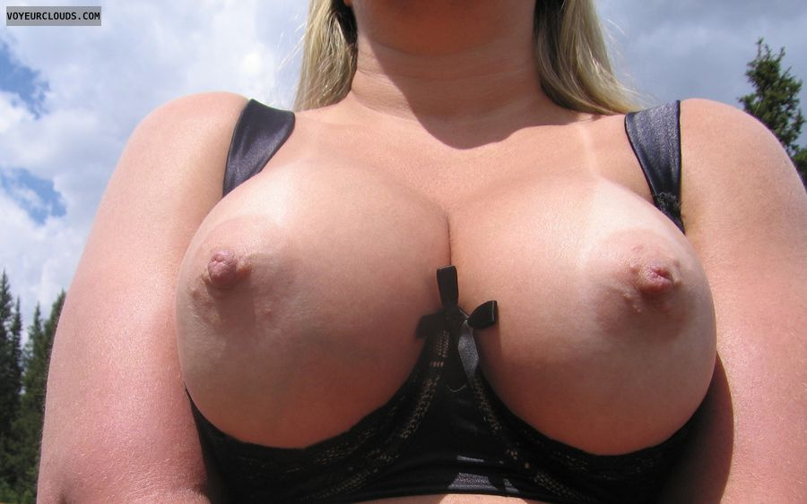 Boobies, Cleavage, Tanlines, Outdoor Nudity, wife tits