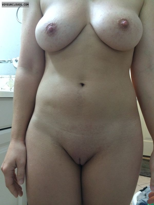 Shaved waxed pussy
