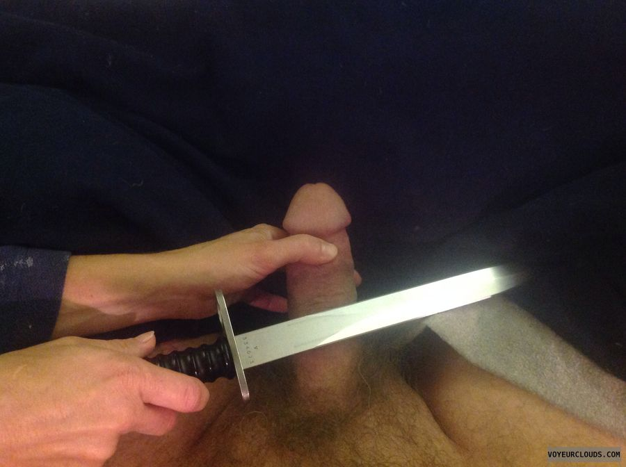 Cock, knife, erection, humor