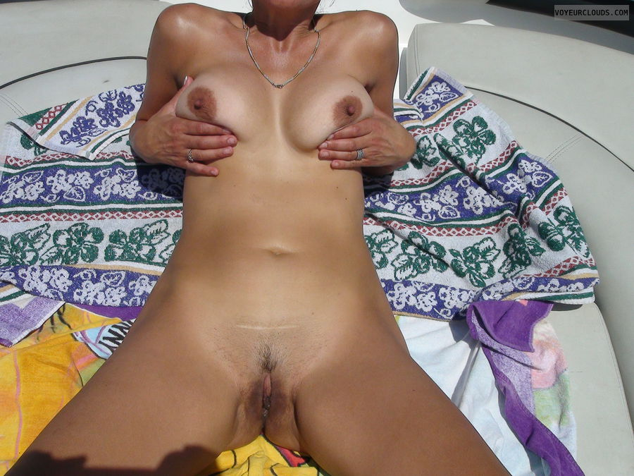 pussy, outdoors, boat, tits, milf, sunshine
