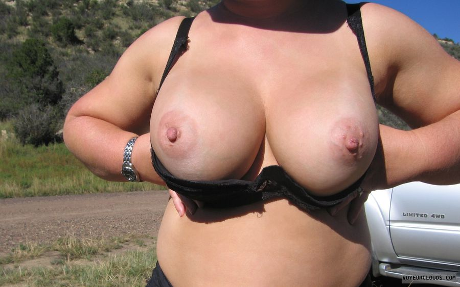 Boobies, Cleavage, Outdoor Nudity, Puffy Nipples