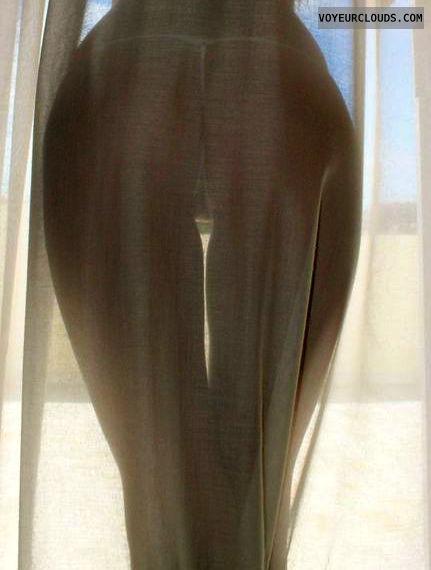 ass pic, round ass, round butt, white thong, topless