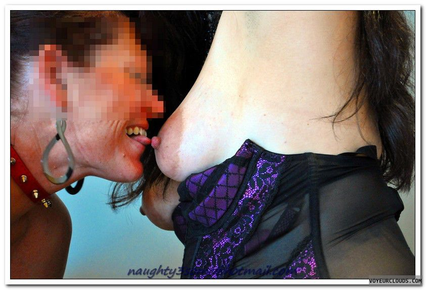 bisexual, bi, lesbian, two girls, nipples, areola