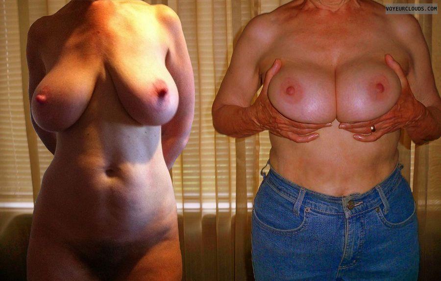 Big tits, big nipples, milf, erect nipples, composite