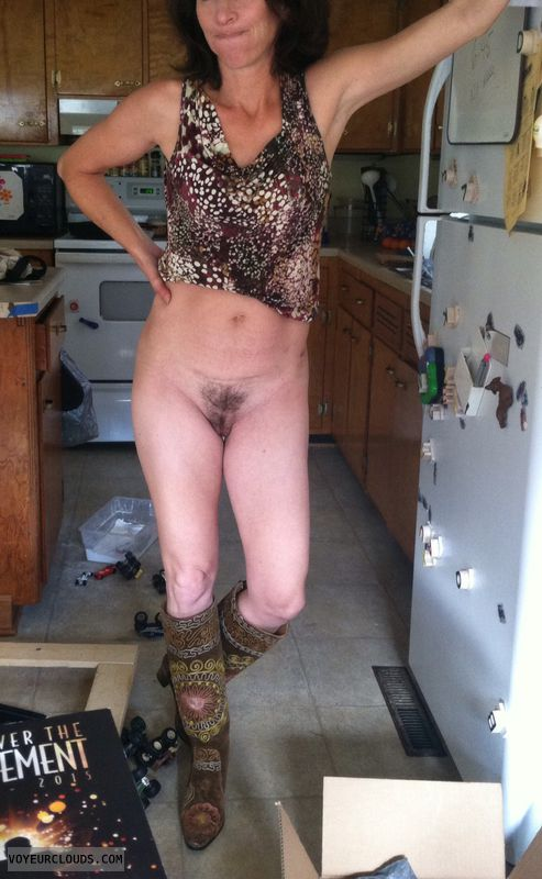 Milf pussy, milf, naughty wife, boots, legs