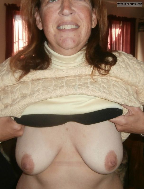 small tits, hard nipples, dark nipples, tit flash