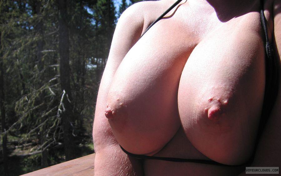 Boobies, Cleavage, Outdoor Nudity, Cold Nipples