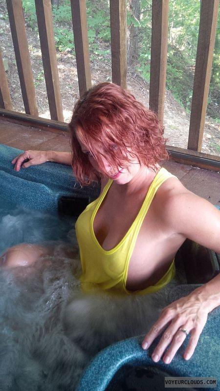 Big tits redhead wife