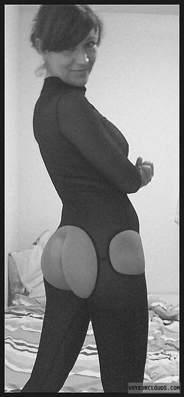 bodystocking, nylon, stockings, lingerie, ass