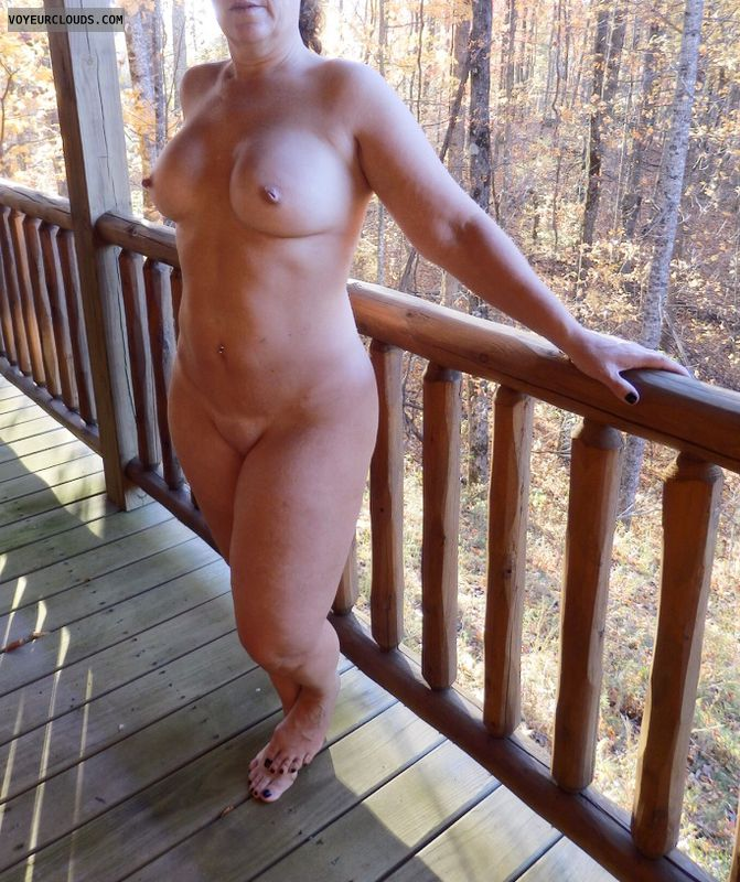 Nude Wife, Nude MILF, Wife Tits, MILF Tits, Outside