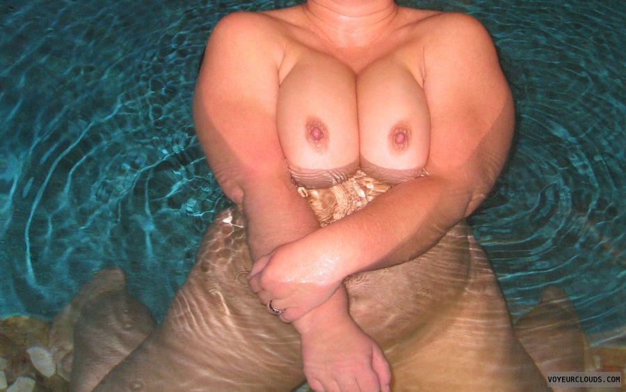 big boobies, hard nipples, pink nipples, outdoors