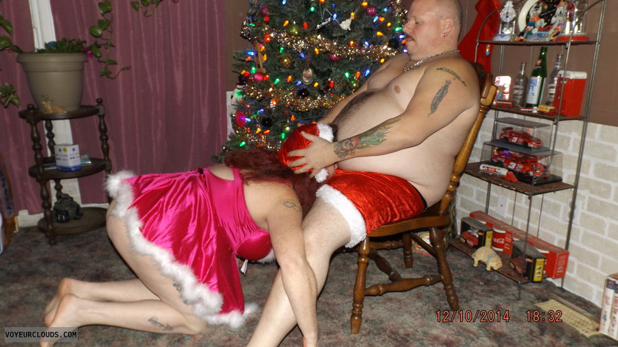 Santa getting a blow job