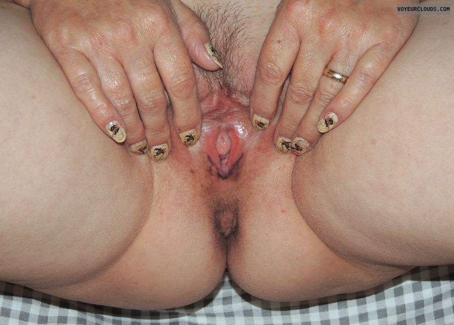 spread pussy, pussy, pussy close up, milf pussy, painted fingernails
