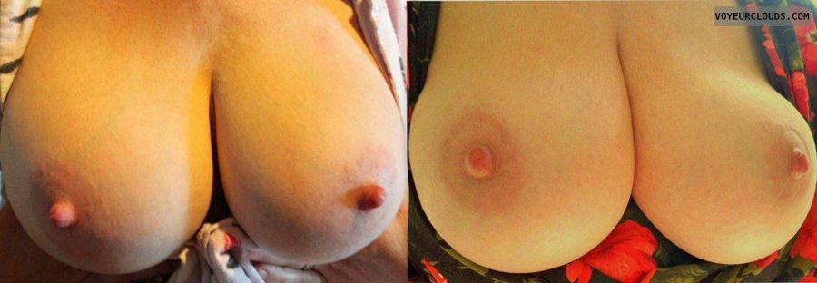 Big tits, big boobs, hard nipples, tits out