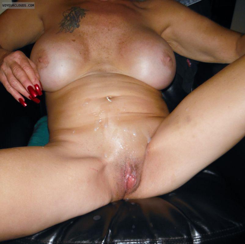 Shaved pussy cum shot images remarkable