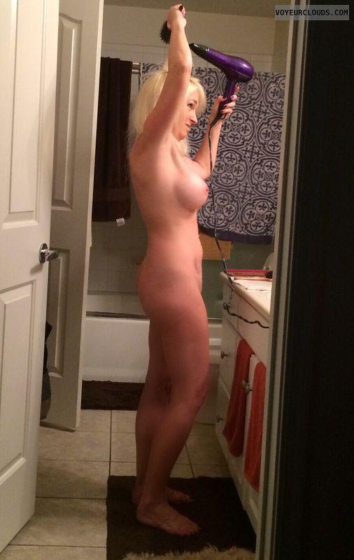Wife nude getting ready