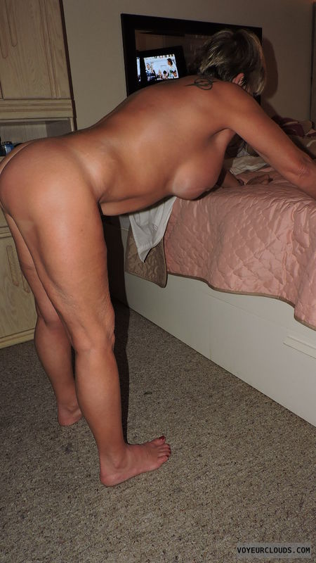 over Amateur milf bent